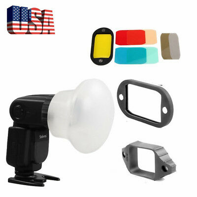 US Selens Magnetic Flash Modifier Sphere Diffuser Filter Gel for YongNuo Flash