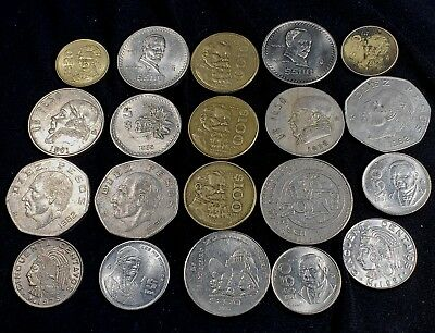 20 Mixed Coins From Mexico Centeral America *