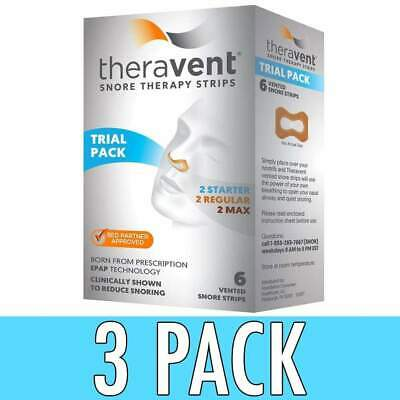 Theravent Snore Therapy Strips, Trial Pack, 6 ea, 3 Pack