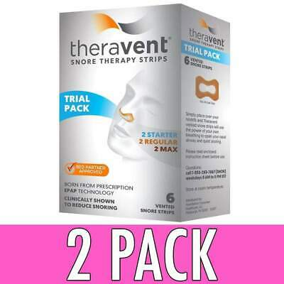 Theravent Snore Therapy Strips, Trial Pack, 6 ea, 2 Pack