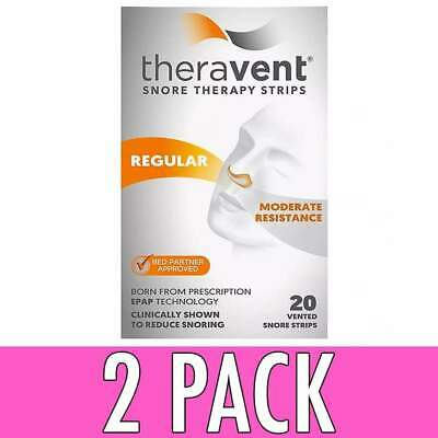Theravent Snore Therapy Strips, Regular, 20 ea, 2 Pack