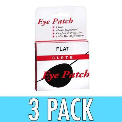 Concave Eye Patch Cloth With Elastic Headband, 1 ea, 3 Pack