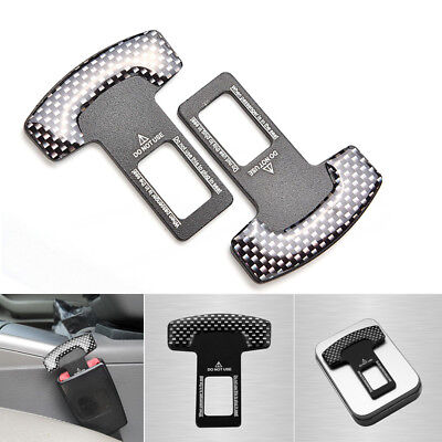 Carbon Fiber Car Safety Seat Belt Buckle Alarm Stopper Clip Clamp For Acura Audi