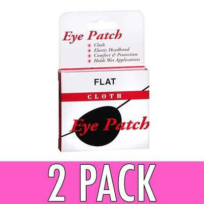 Concave Eye Patch Cloth With Elastic Headband, 1 ea, 2 Pack