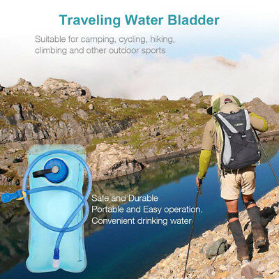2L Water Bladder Backpack Hydration System Backpack Bag Camping Hiking 2PCs