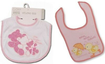 Pack of 12 Baby Girls Bibs Pink Bundle Gift - Wholesale Job Lot