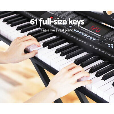 NEW 61 Keys Full Sized Lighted Electronic Piano Keyboard, Touch Sensitive Keys