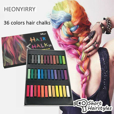 Temporary Chalk Pastel Hair Dye Styling Tools Drawing 24/36 Colors Set Non-Toxic