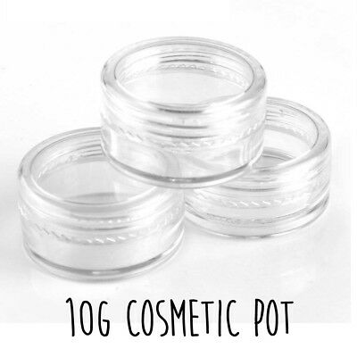 10g Clear Cosmetic Pot Cream Jar Bottle Art Glitter Make Up Travel Container