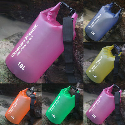 Waterproof Outdoor Backpack Dry Bag - 10L/20L/30L for Beach, Kayak, Fishing, Cam