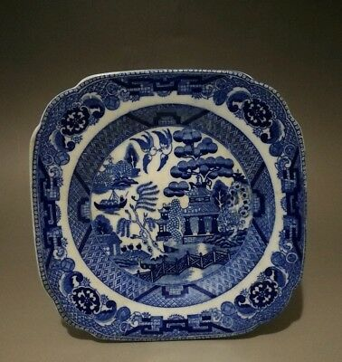 Antique Chinese Ceramic White And Blue Small Plate