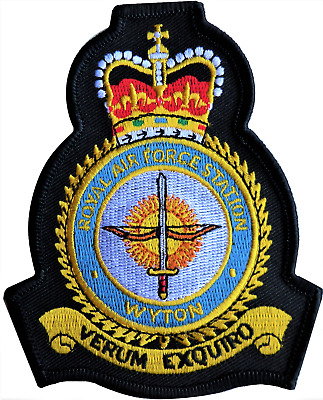 RAF Wyton Royal Air Force MOD Crest Embroidered Patch