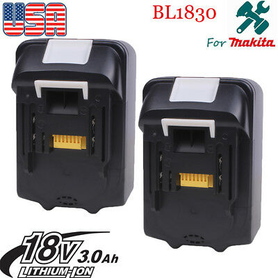 2x 3.0AH For Makita BL1845 BL1830 BL1815 18V Battery  LXT Lithium Ion Cordless-A