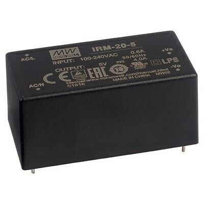 1 X IRM-02-5S Pwr sup.unit switched-mode; modular; 2W; 5VDC; 33.7x22.2x16mm