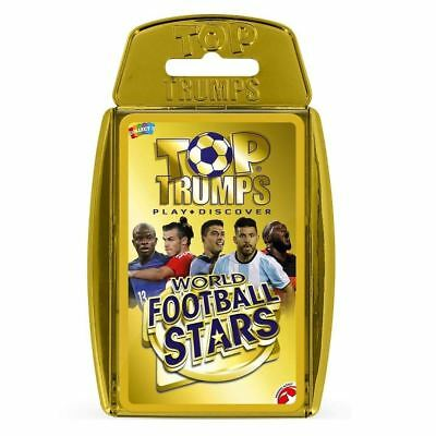 Top Trumps World Football Stars Card Game - Gold Case