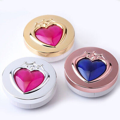 Anime Sailor Moon Heart Contact Lenses Box Glasses Lens Case Holder Cosplay Gift