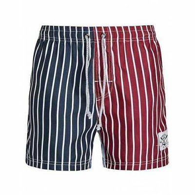 Front Back Contrast Color Difference Stripe Board Shorts - 2xl U213-269804004