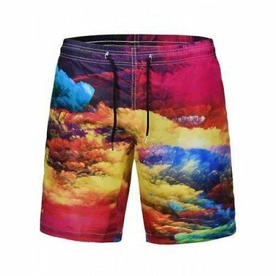 Colorful Clouds Oil Painting Print Quick Dry Shorts - 2xl U213-271446904