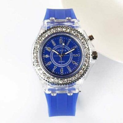 Fashion Trendy Girls Watch Casual Silicone Ladies Watches Glow LED Lights Stu...