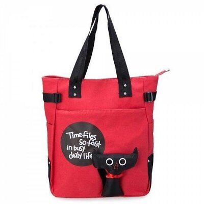 Lovely Cartoon Stamp Designer Canvas Multi Color Women Travel  Bags - Waterme...