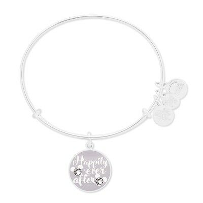 Disney Alex and Ani Happily Ever After Bracelet Bangle Silver NEW