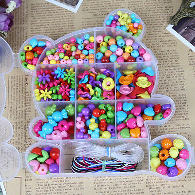 550pcs Beads Assorted Color Creative DIY Jewelry for Kids Crafts DIY Girls Gift