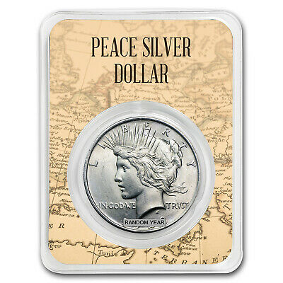 1922-1925 Peace Silver Dollar Eagle Map Card BU (Random Year) - SKU#171949