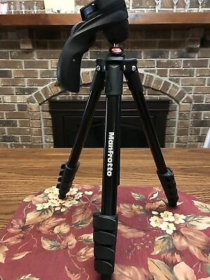 MANFROTTO Compact Action Tripod Joystick Head Quick Release No Box Bag Black 61""