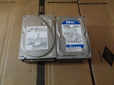 Lot Of 6 Mixed 320Gb Hard Drives Wd Western Digital Seagate