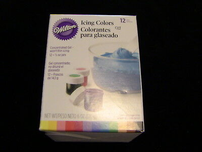 WILTON Icing Colors Pack of 12 Concentrated Gel Baking Cake Decorating
