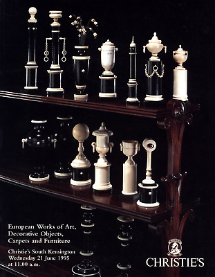 Christies European Works Decorative Art Objects Carpets Furniture 1995 June