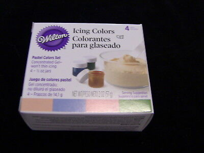 WILTON ICING COLOR Kit food coloring gel 4 Pastel Colors Easter NO ...