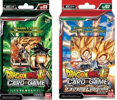 DRAGON BALL SUPER CARD GAME STARTER DECK dark invasion+the extreme evolution