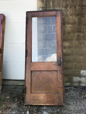 MAR 244 antique oak half view passage door with jam 32 x 84