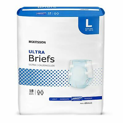 McKesson HEAVY Absorbency Adult Diaper Brief LARGE Contoured BRULLG 72/Case