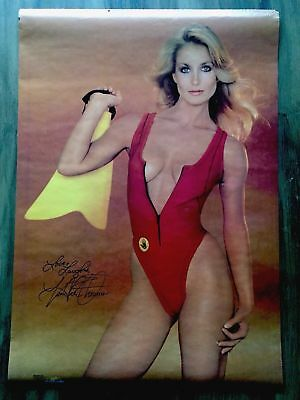 1983 Fall Guy Heather Thomas Body Glove Scuba/Swimsuit Wall Poster/Free Ship!
