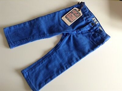BNWT 100% Auth Replay, Baby Boy Cobalt Blue Slim Fit Jeans. 9 Mts RRP £49.00