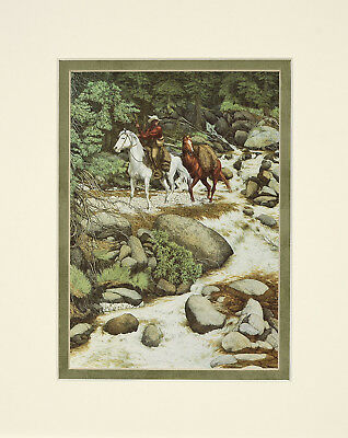 The Forest has Eyes by Bev Doolittle 8x10 double matted art print