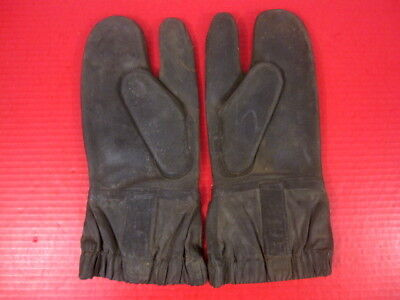 WWII Era US Navy Rubberized Deck Gloves or Mittens w/Trigger Finger - RARE