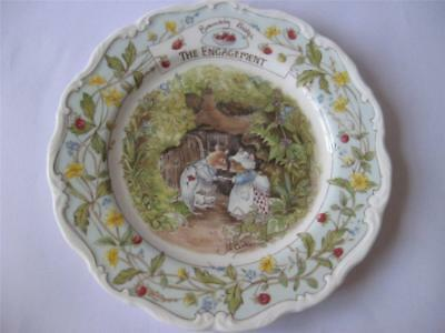 Royal Doulton Brambly Hedge Plate - The Engagement