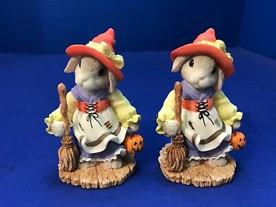 Halloween Enesco My Blushing Bunnies 2 Let's Brew Up Some Fun Witch 1999 554170