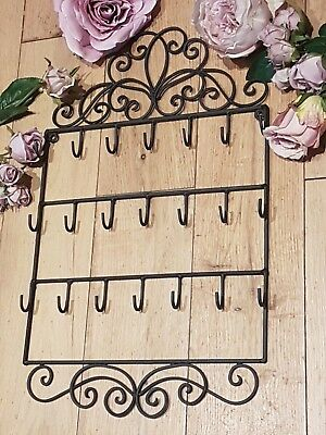 French Vintage Style Wall Mounted Key Hooks Holder Jewellery Rack Display Hanger