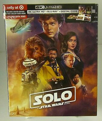 Solo: A Star Wars Story Target Exclusive 4k UHD/ 2 Blu-ray/Dig with Book