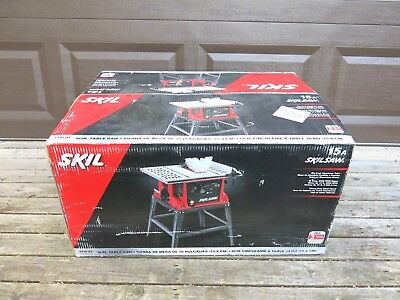New Skil 10 Inch Table Saw 15 Amp With Fixed Stand Model 3310 01 Nib