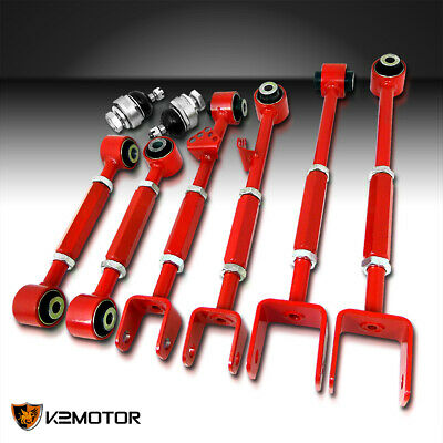 For 08-13 Accord 09-13 TL TSX Front Ball Joint+Rear Camber Control Arm Toe Kit