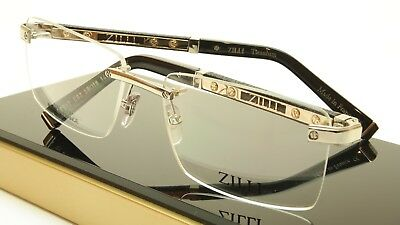 f7c62318721 ZILLI Eyeglasses Frame Acetate Leather Titanium France Hand Made ZI 60012  C02