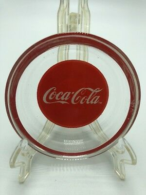 "Collectible Round Coca-Cola Ashtray  3.75"" Diameter .75 Tall The Real Thing Coke"