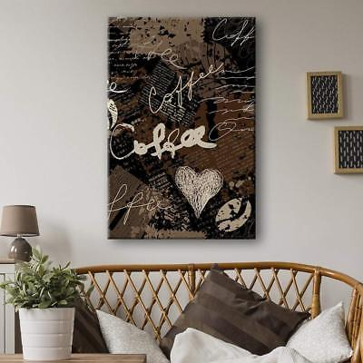 Wall26 - Grunge Style Coffee Concept Art Gallery - CVS - 32x48 inches