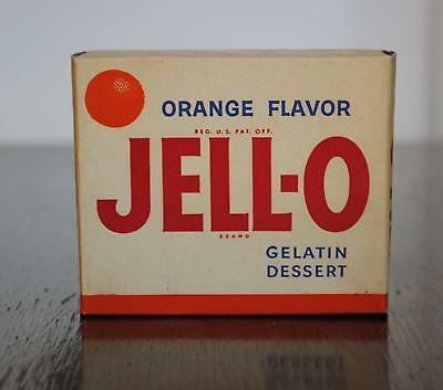 Vintage New Old Stock Orange Jell-O Box 1950s Unopened 3 oz Gelatin