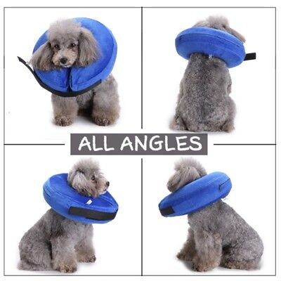 Pet Dog Inflatable Collar Soft E-Collar Medical Protection Head Cone Support US